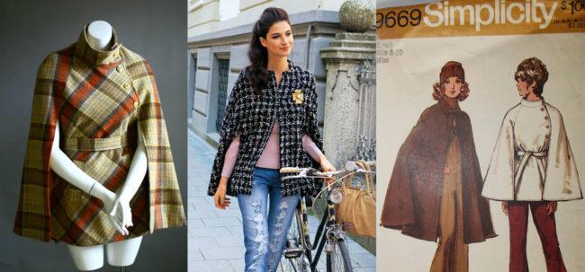 Inspiration: 1960s Cape | Burda Style 08-2011-112 | Simplicity 9669 (oop)